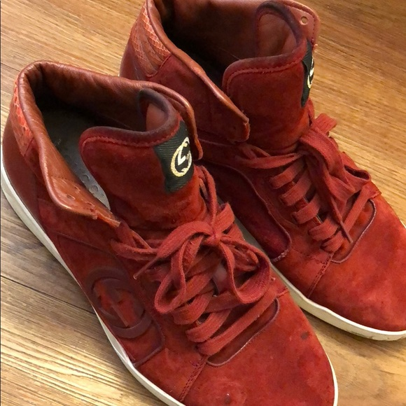Gucci Shoes | Mens Gucci Sneakers Red